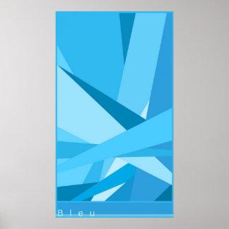 blue poster - une affiche bleu