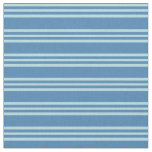 [ Thumbnail: Blue & Powder Blue Colored Striped/Lined Pattern Fabric ]
