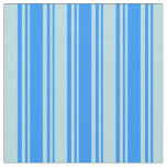 [ Thumbnail: Blue & Powder Blue Lined/Striped Pattern Fabric ]