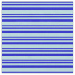[ Thumbnail: Blue & Powder Blue Stripes Fabric ]