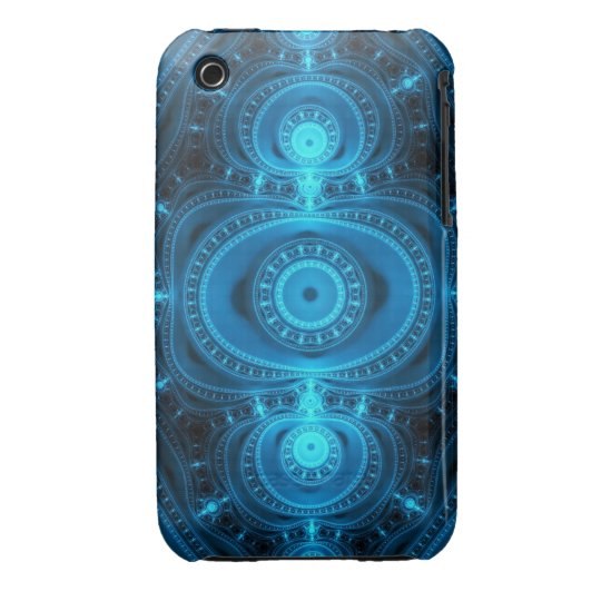 Blue Power, abstract fractal iPhone 3 Cover