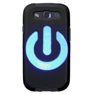 Blue Power Button Galaxy SIII Covers