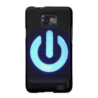 Blue Power Button Samsung Galaxy SII Case