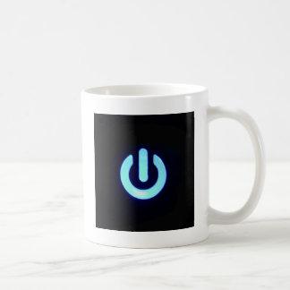 Blue Power Button Coffee Mug