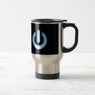 Blue Power Button Travel Mug