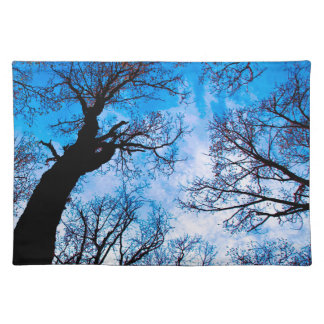 BLUE POWER OF TREE CLOTH PLACEMAT