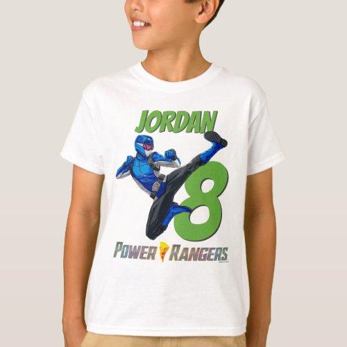Blue Power Ranger Birthday T_Shirt