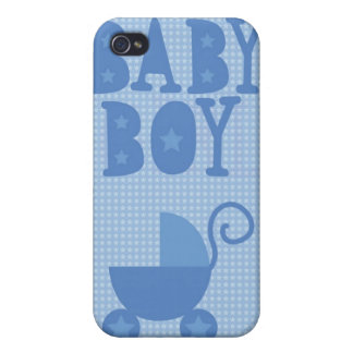 Blue pram BABY BOY from wicked greetings iPhone 4/4S Covers