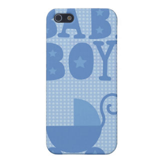 Blue pram BABY BOY from wicked greetings iPhone SE/5/5s Cover