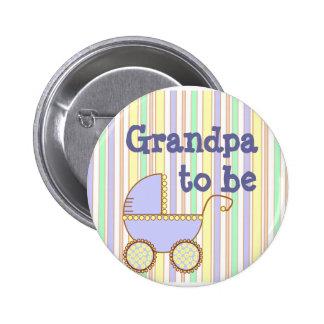 "Blue Pram - ""Grandpa To Be"" pin"