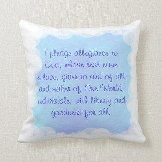 Blue Prayer Pillow, One World Pillows