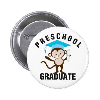 Blue Preschool Graduate Pinback Button