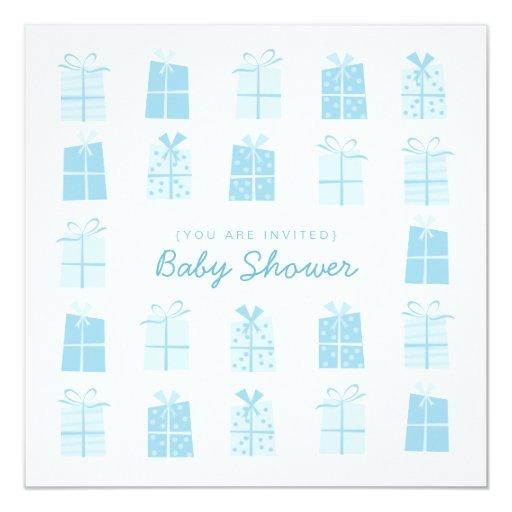 Blue Presents (Boy) Baby Shower invitation