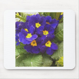 Blue Primroses Mouse Pad
