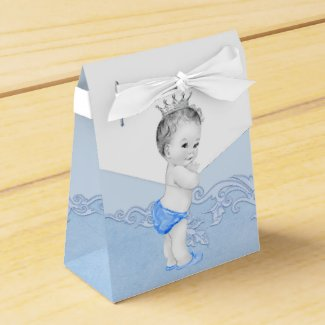 Blue Prince Baby Shower Favor Boxes