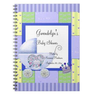 Blue Prince Baby Shower Spiral Notebook