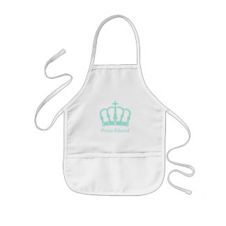 Blue Prince Crown with Jewels Kids' Apron