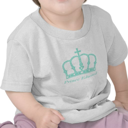Blue Prince Crown with Jewels for Baby Boys Shirt