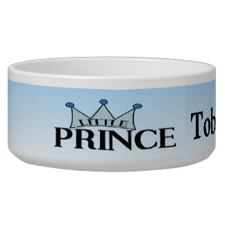 Blue Prince personalized Crown Dog Bowl