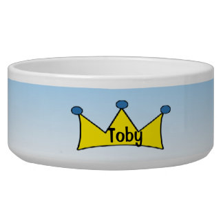 Blue Prince personalized Yellow Crown Dog Bowl