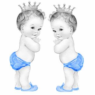 Blue Prince Twin Boy Baby Shower Cutout