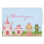 Blue Princess Thank You Card