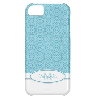 Blue Print: Monogram Iphone 5 Case