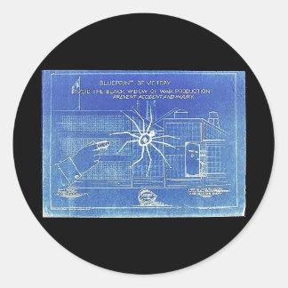 Blue Print Of Victory, Avoid The Black Widow Of Wa Sticker