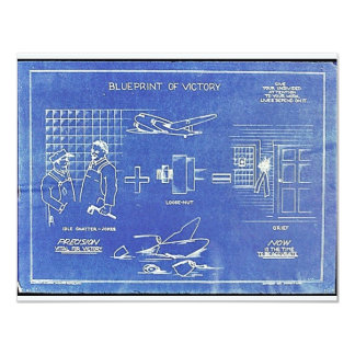 Blue Print Of Victory Card