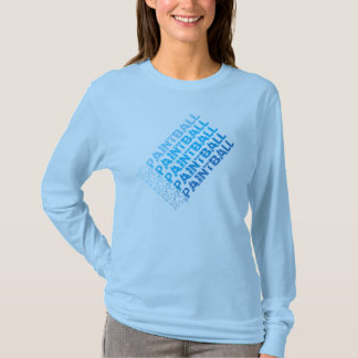 Blue print paintball long sleeve shirt