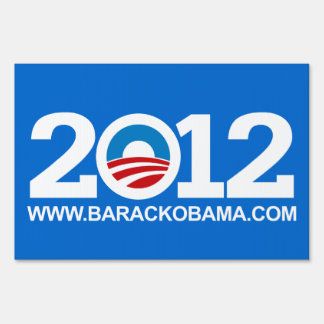Blue Pro-Obama 2012 Elections Yard Sign