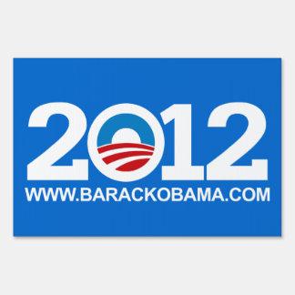 Blue Pro-Obama 2012 Elections Yard Sign