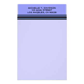 blue professional stationery