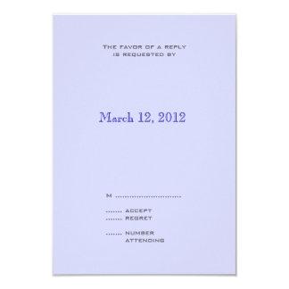 Blue Progression Modern Wedding Invitation RSVP 2