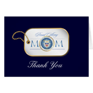 Blue Proud Army Mom Dog Tag Card
