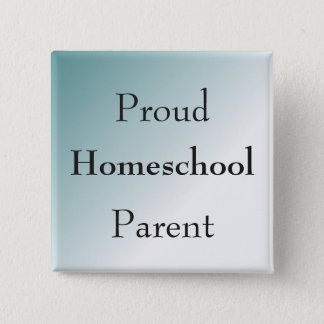 Blue Proud Homeschool Parent Pinback Button