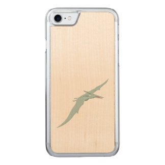 Blue Pterodactyl Dinosaur 4 Carved iPhone 8/7 Case