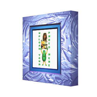 blue pudding illusion photo canvas wrapped frame gallery wrapped canvas