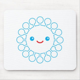 Blue Puffball Mouse Pad