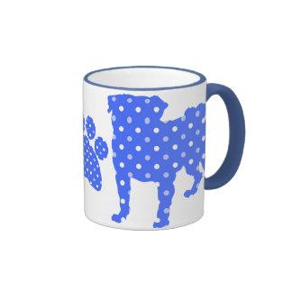 Blue Pugs and Paws Mugs