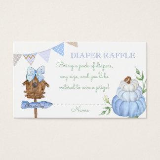 Blue Pumpkin Patch Diaper Raffle Business Card