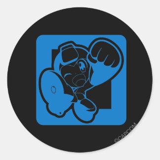 Blue Punch Round Stickers