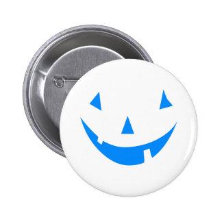 Blue Punkin Face Halloween Design Button