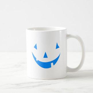 Blue Punkin Face Halloween Design Mug