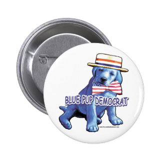 Blue Pup Button
