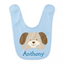 Blue Puppy Bib
