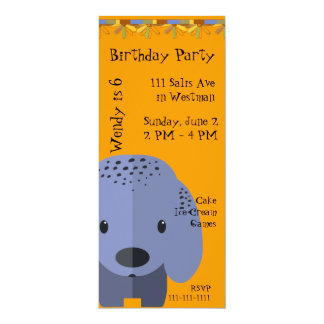 Blue Puppy Birthday Invitation