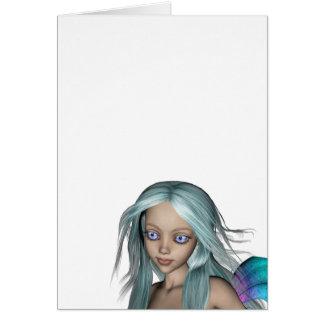 Blue & Purple 3D Mermaid 5 Close-up Card