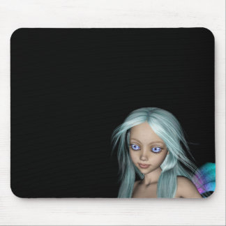Blue & Purple 3D Mermaid 5 Close-up Mouse Pad