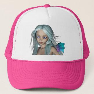 Blue & Purple 3D Mermaid 5 Close-up Trucker Hat